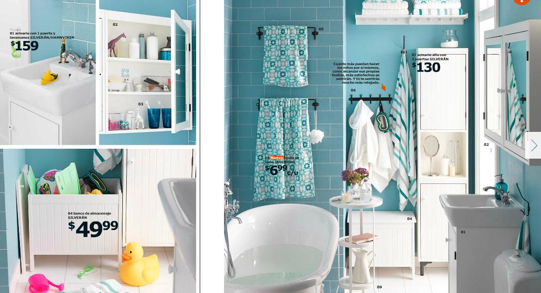 Baño Moderno Con Banera: ikea-2015-cocinas-y-baños-modelo-baño-moderno-con-bañera-color-azul