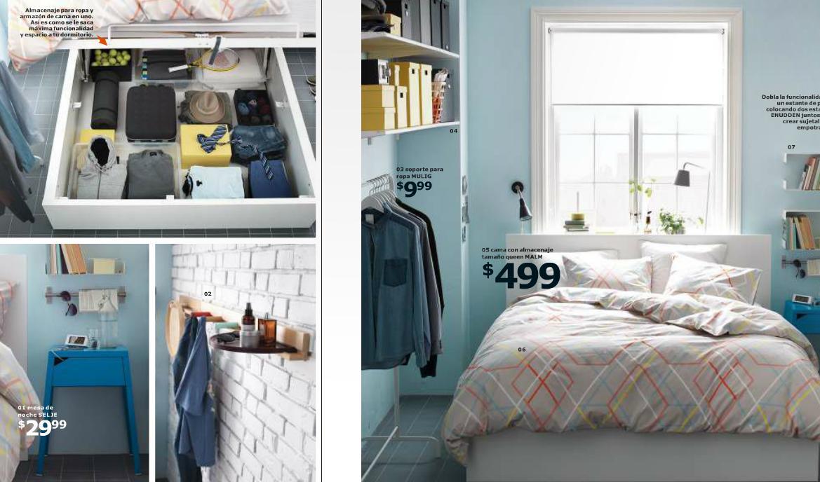 catalogo ikea 2015 salon y dormitorios cama almacenaje