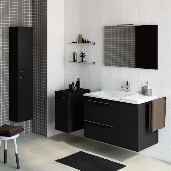Catálogo Leroy Merlin baños 2015 | Muebles para el baño mueble blanco y negro