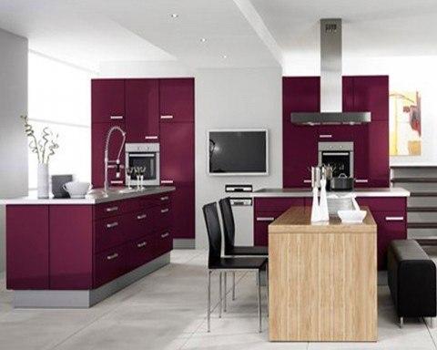 Colores para la cocina - Cocina color lila ...
