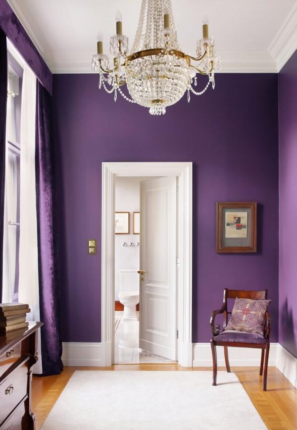 colores para el pasillo de casa paredes en lila