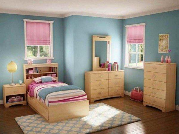 Interiores de recamaras juveniles en color azul for Colores zen para dormitorio