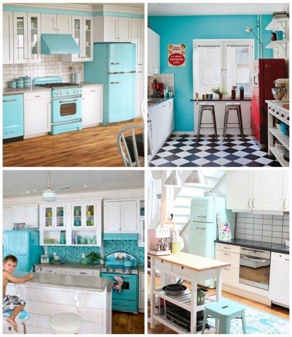 Decoraci n para una cocina vintage - Colores para una cocina ...