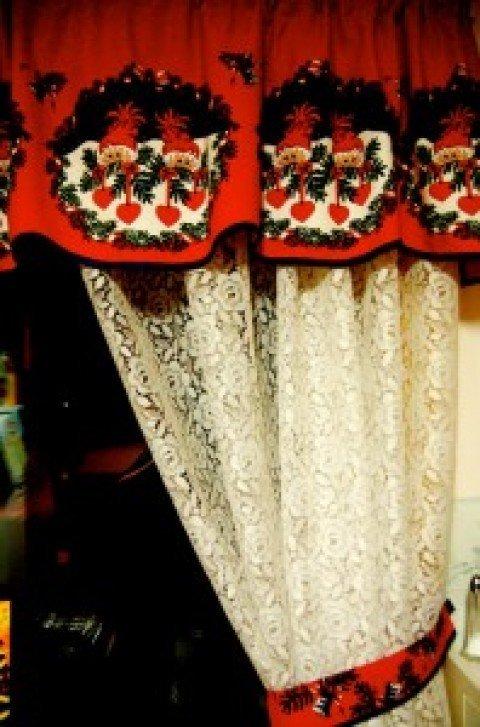 20 fotos de cortinas para navidad 2019 for Cortinas navidenas para sala