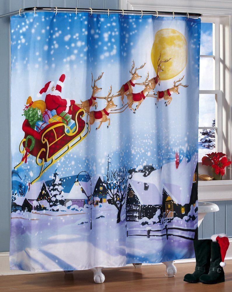 Cortinas De Baño Para Navidad:cortinas-para-navidad-cortinas-navideña-baño – DecoracionInteriores