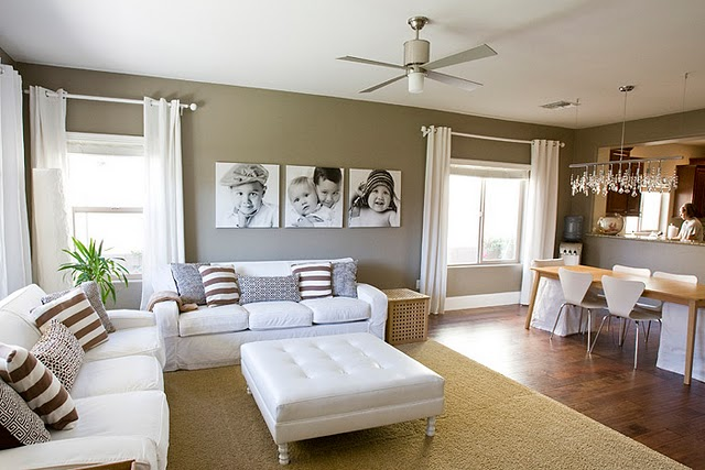 Cortinas para sala tendencias cortinas blancas for Cortinas blancas para sala