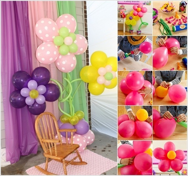decoracion con globos ideas hacer flores - Como Hacer Flores Con Globos