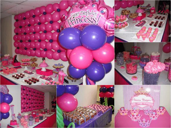decoracion-de-fiestas-infantiles-decoración-con-globos-pegados-en-la-pared