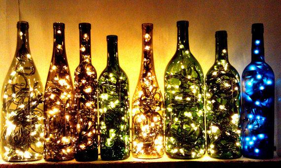 decoracion-navidad-2015-elementos-reciclados-botellas-con-luces