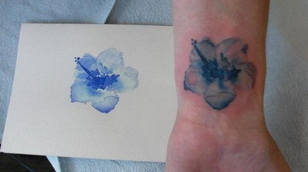 Foto Tatuajes que parecen acuarelas