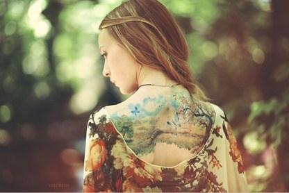Tatuajes que parecen acuarelas