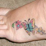 flower-butterfly-foot-tattoo