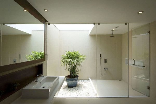 fotos-de-baños-de-lujo-modelo-zen-con-planta