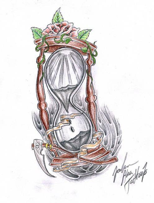 Dibujos De Relojes De Arena Para Tatuajes
