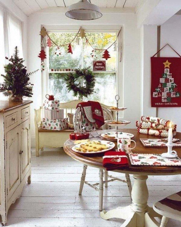 Decoración navideña para la cocina