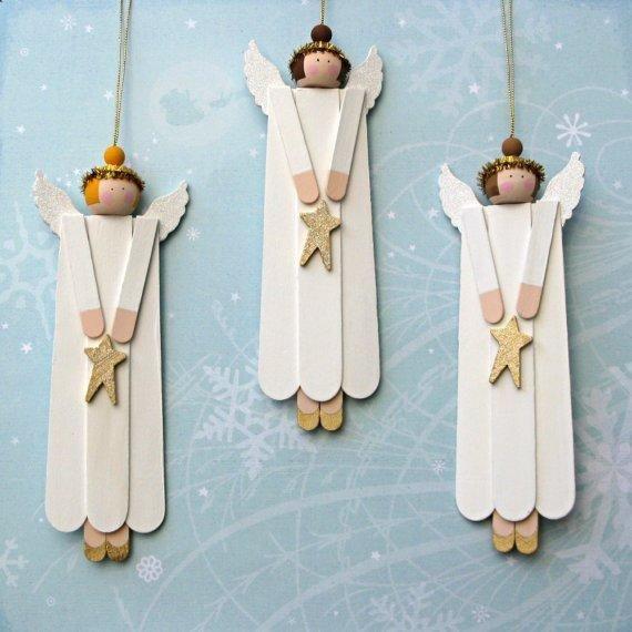 ideas-para-hacer-adornos-para-el-arbol-de-navidad-adornos-de-madera-angeles