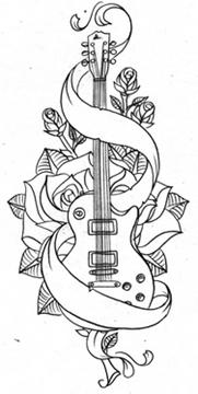 Tatuajes De Guitarras Tendenziascom