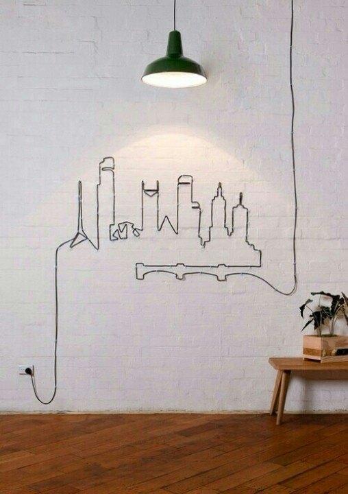 lampara moderna en salon