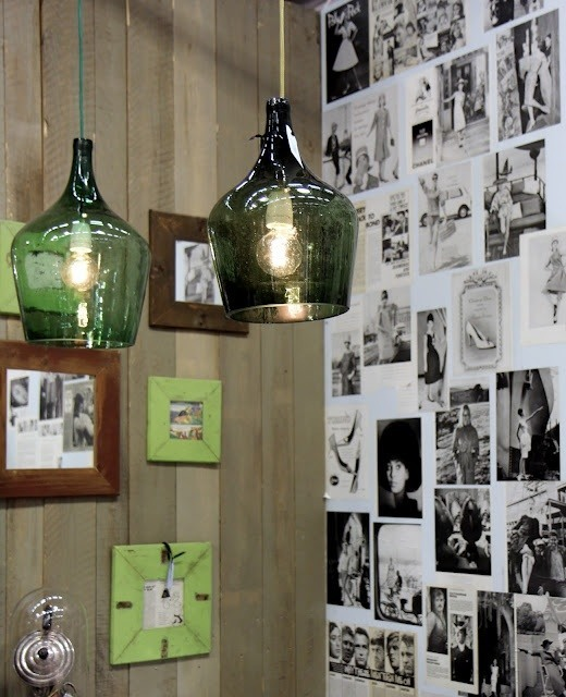 lamparas de vidrio verdes