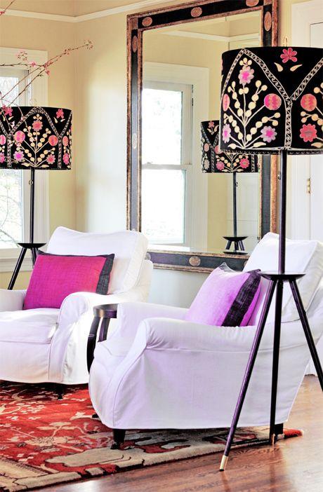 lamparas para salones rosas