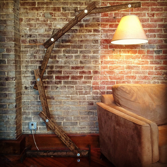 Lámparas rústicas de madera   tendenzias.com