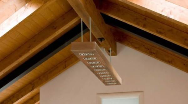 L mparas r sticas de madera - Como hacer lamparas de techo artesanales ...
