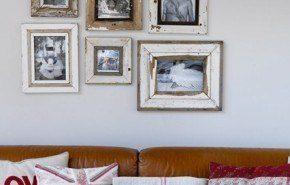 Ideas de como colgar fotos y cuadros en la pared
