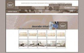 Eligiendo la tapicería con un decorador virtual