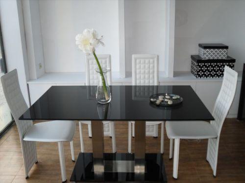 Mesa de comedor de diseno con 8 sillas brescia elegancia y for Sillas comedor diseno