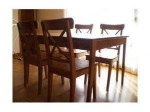 Casas cocinas mueble ikea mesas y sillas de comedor for Mesas y sillas para salon comedor