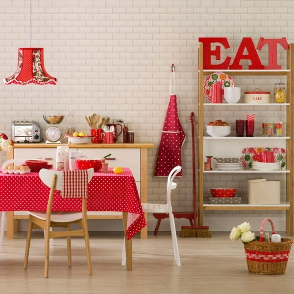 Decoraci n para una cocina vintage for Muebles de cocina con cortinas