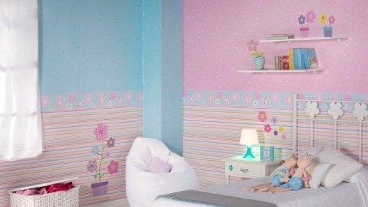 Decoracion mueble sofa cenefas papel pintado para paredes - Cenefas papel pintado para paredes ...