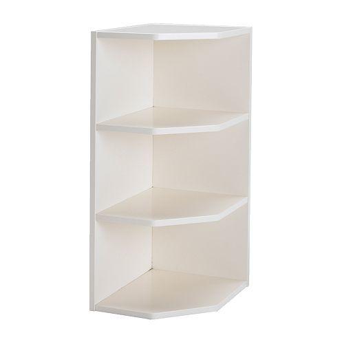 Perfekt estanteria esquina de pared blanco 32703 pe122720 for Estanteria blanca ikea