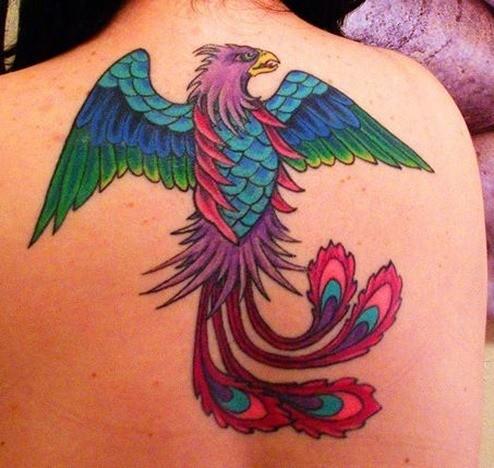 Tatuaje de Ave Fénix