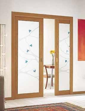 Puerta corredera de vidrio 43504 - Puertas de vidrios ...