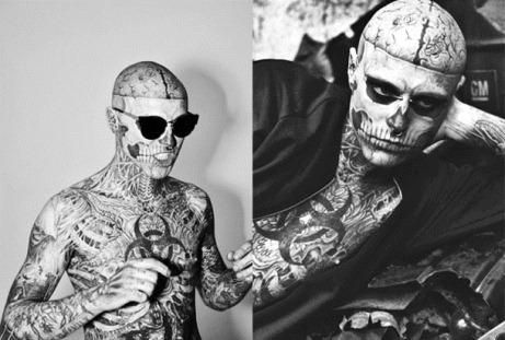 Rick Genest y sus tatuajes