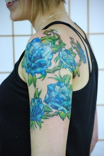 rosas-azules