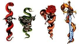 Algunos motivos con serpientes