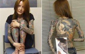 Tatuajes de Shoko Tendo