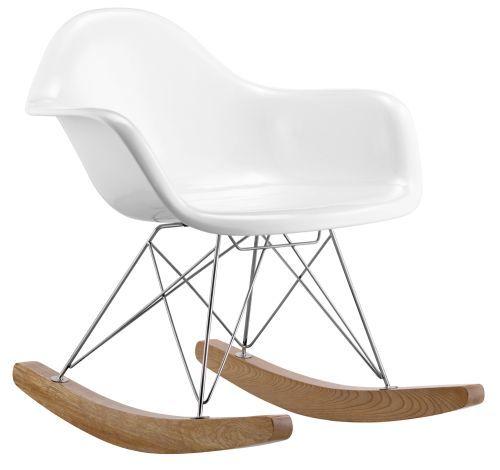 Silla mecedora rar estilo eames rar chair colores blanco y for Mecedora leroy merlin