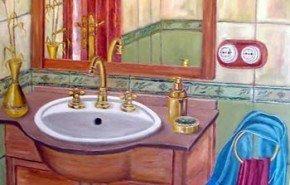 Baño chico, espacio grande