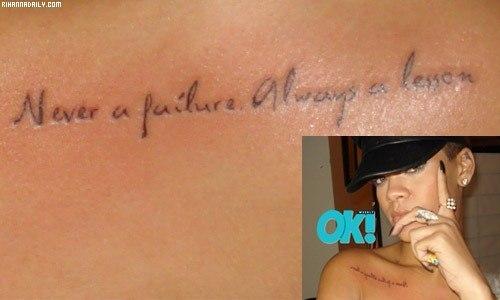 Los tatuajes de Rihanna