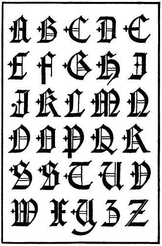 de letras goticas para tatuajes: