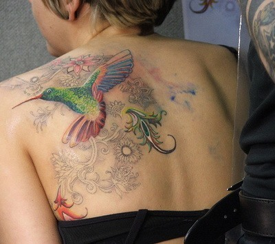 tattooing-hummingbird-design