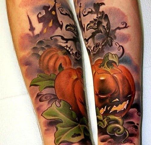 Tatuajes de Halloween: Las calabazas