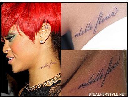 Los Tatuajes De Rihanna En Todo Su Cuerpo