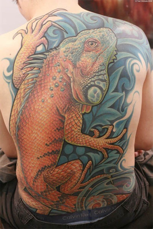 Tatuajes de iguanas  Tendenziascom