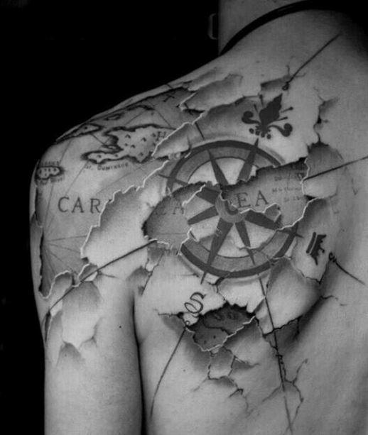 Tatuajes De Mapas Tendenziascom