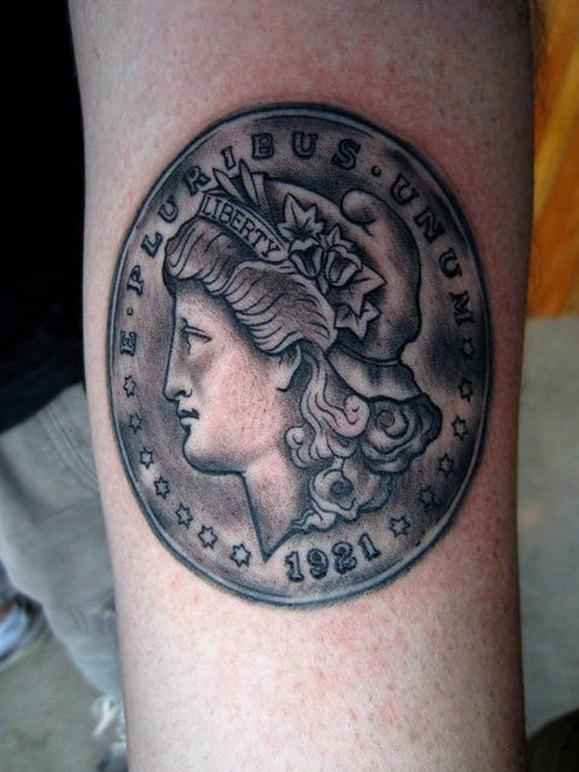 Tatuajes De Monedas Símbolos Buena Suerte Tendenziascom
