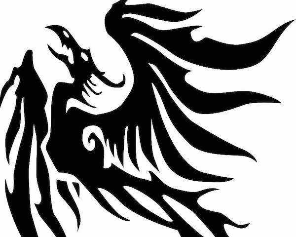 tatuajes-de-ave-fenix-estilo-estilo-tribal